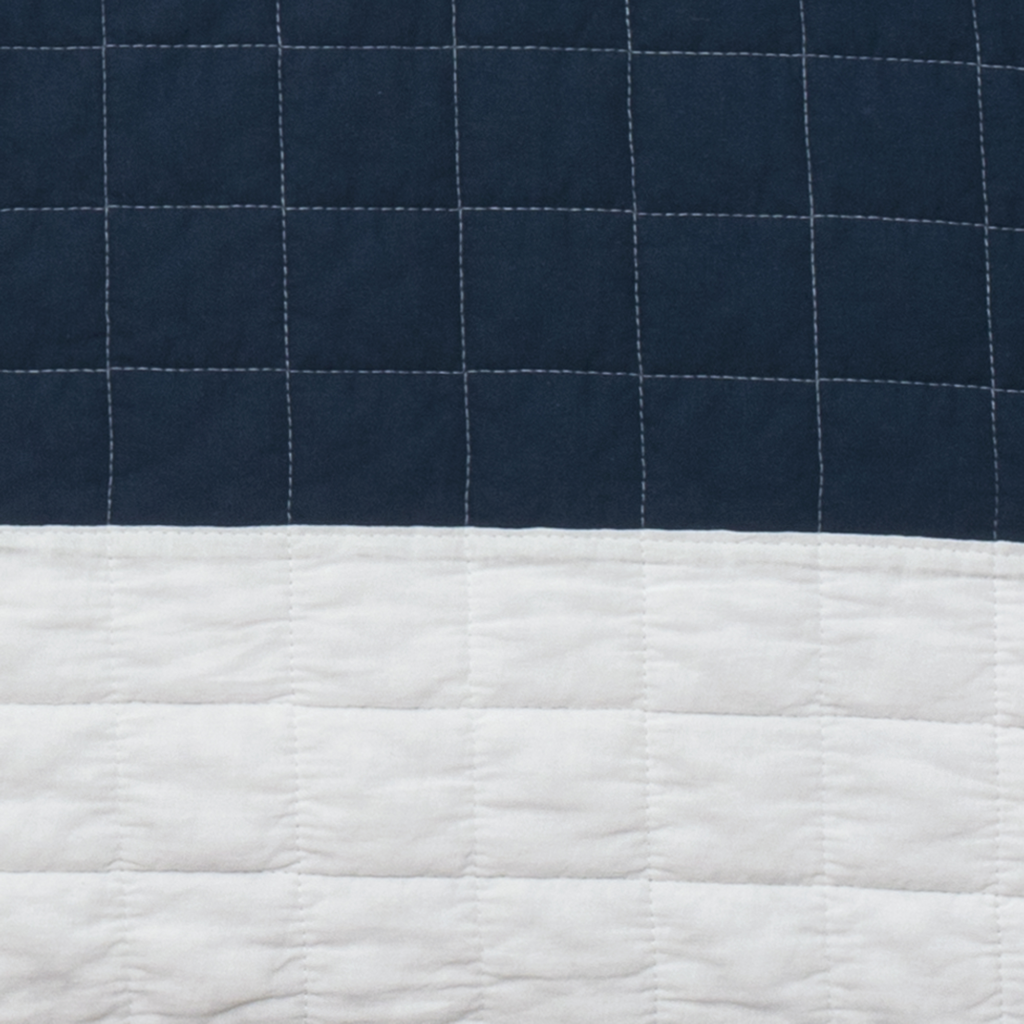 New Berlin Stripe Quilt Navy White 3pc Set Full Queen Ebay