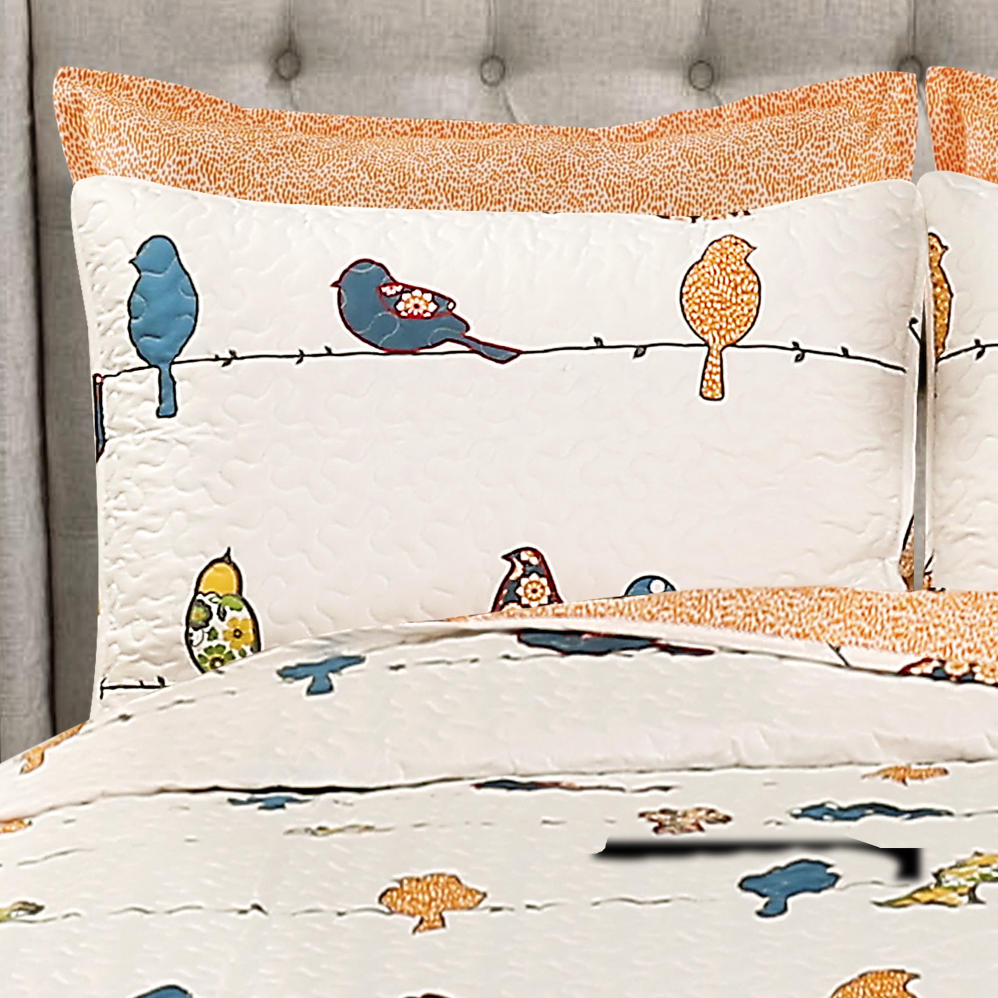 Rowley Birds Quilt Multi 7pc Set King Ebay