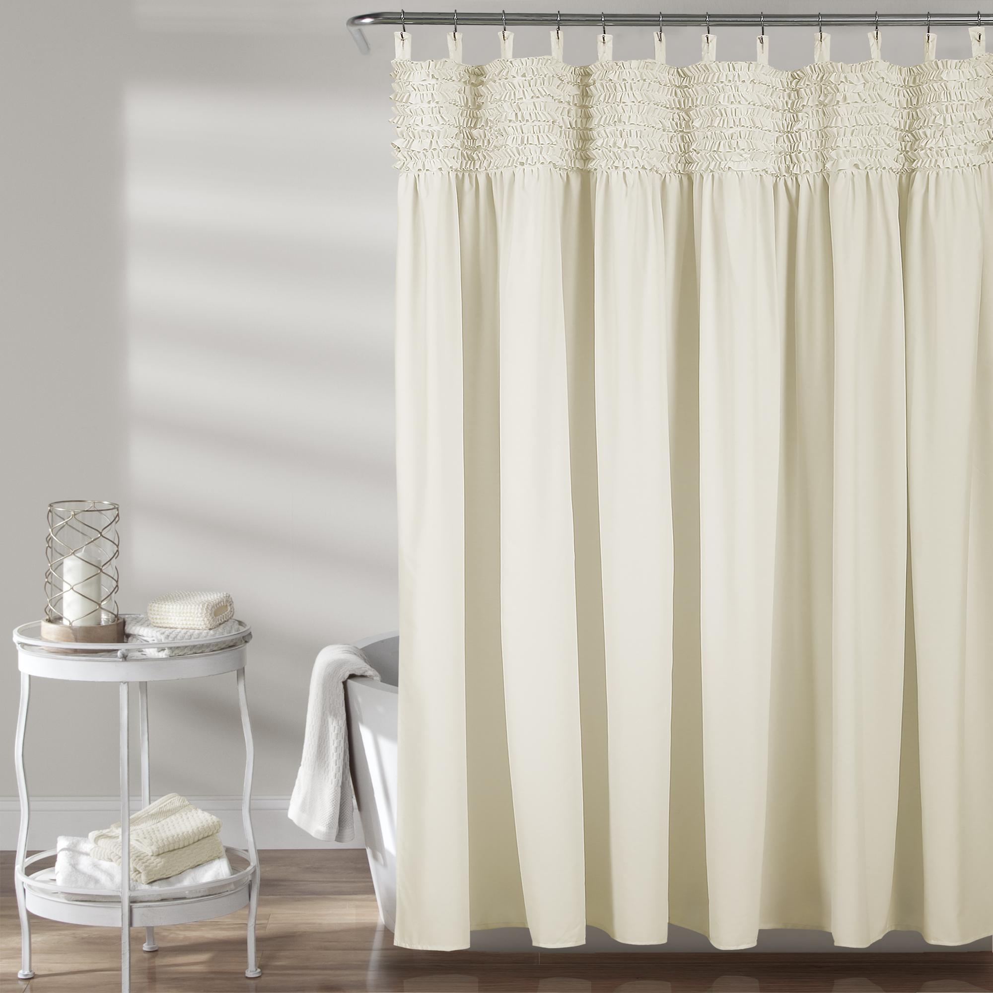 Image Is Loading Lydia Ruffle Shower Curtain Ivory 72X72