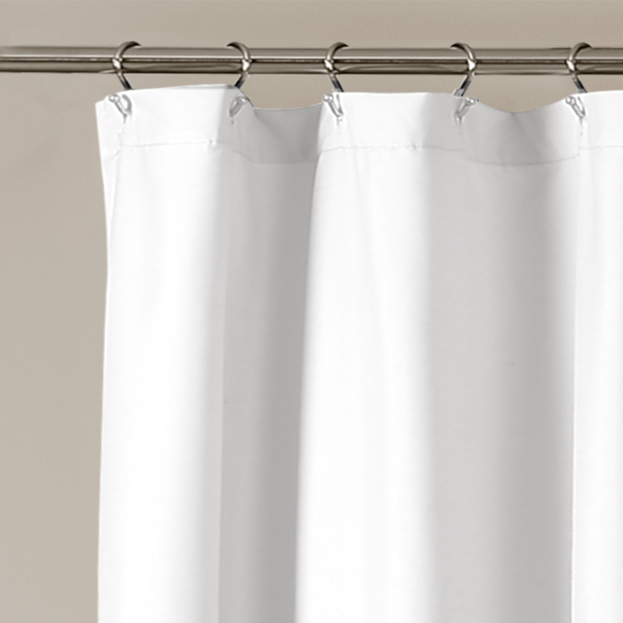 Details About Ella Lace Ruffle Shower Curtain White 72x72